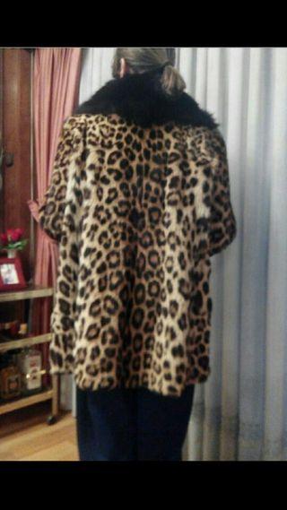 1 mano por Leopardo 900 de segunda Abrigo piel Auténtico 7aw4fZ