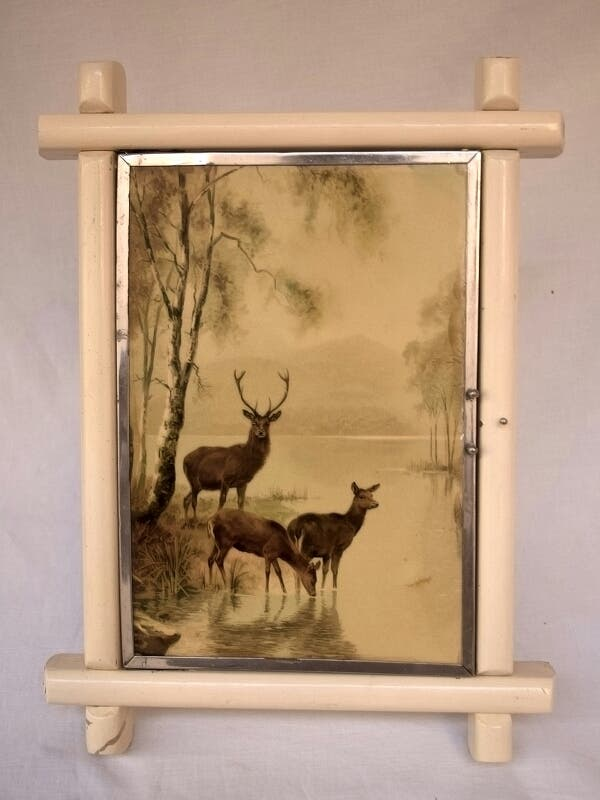 Espejo tríptico enmarcado en madera de segunda mano por 80 € en ...