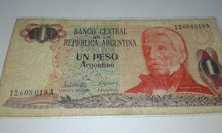 billete 1 peso Argentino