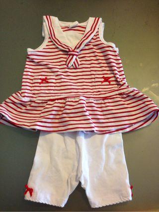 Conjunto marinero niña 1 - 2 m