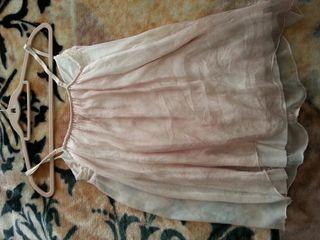 Lenceria M seda con forro rosa palo