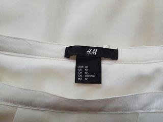 falta blanca H&M talla L