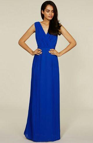 Azul vestido boda