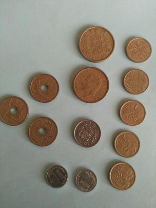 monedas,pesetas