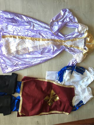 Disfraces rey o mosquetero y reina o princesa