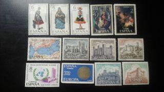Sellos 1970. los 12 x 6€