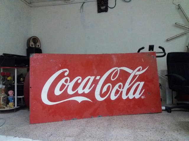 Coca cola vintage cartel decoracion