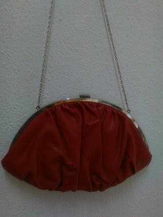Bolso vintage rojo-granate