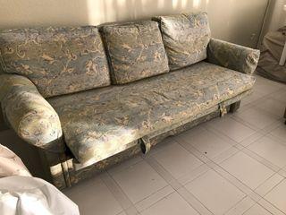 Conjunto sofá cama + 2 plazas