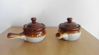 Salseras cerámicas estilo rústico