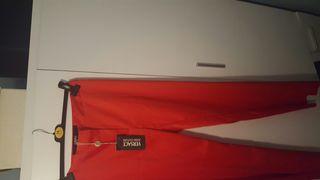 pantalon rojo versace