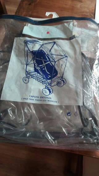 Plástico de lluvia para carrito de bebé