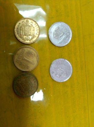 monedas de 1 peseta 1953
