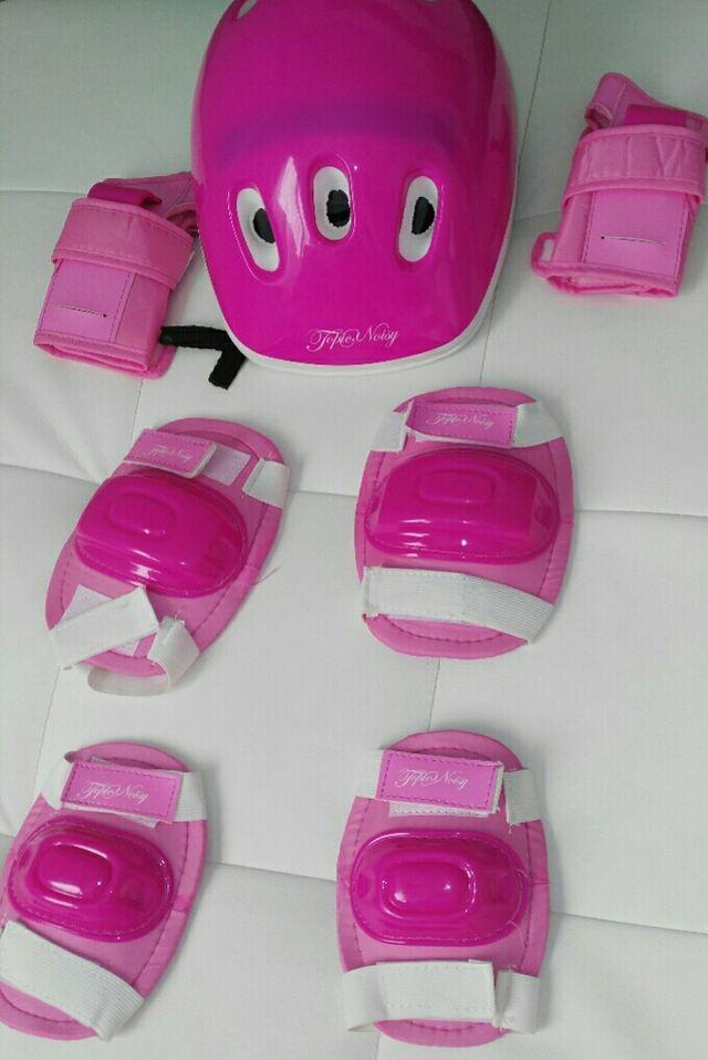 casco, rodilleras,muñequeras y coderas