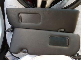 Parasoles e46 negros con espejo y sin luz