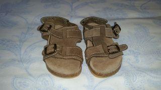 Sandalias piel bebé t.22