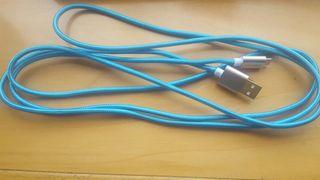 cable de nylon y aluminio de dos metros