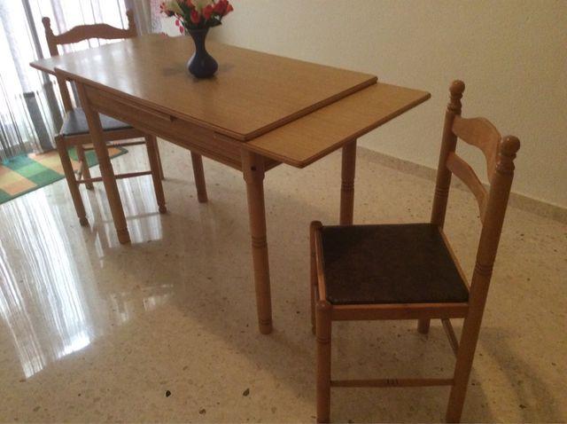 Mesa y sillas de cocina de segunda mano por 75 € en Catarroja en ...