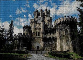 """Grafico punto de cruz """"Castillo de Butron""""."""
