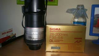 Objetivo Sigma 28-200 DL Hyperzoom Macro F3.5-5.6