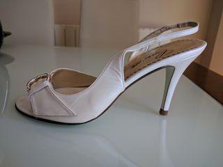 zapatos novia fiesta Christian Rossi talla 38 piel