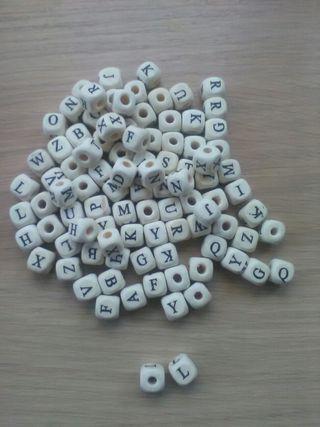 letras cubo blanco. lote 100 letras