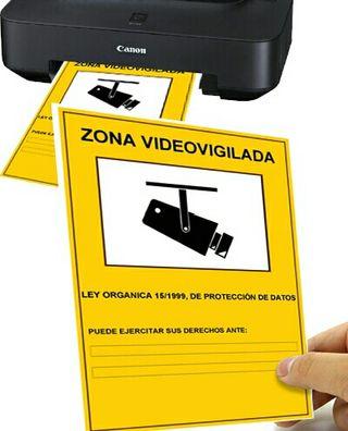 Cartel Zona Videovigilada (personalizado)