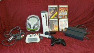 xbox360 con juegos + accesorios
