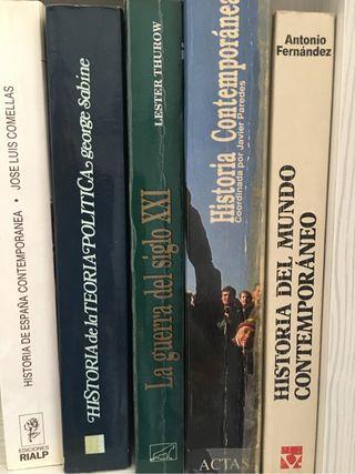 Cinco libros Historia Contempo