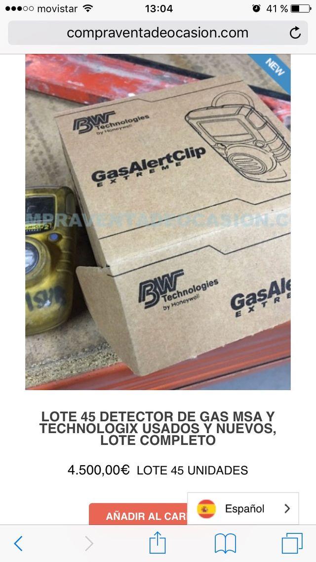 Lote 10 Detector de gas GA24XT-H510 GasAlertClip