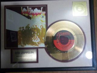 Disco de oro 24k edición limitada Led Zeppelin