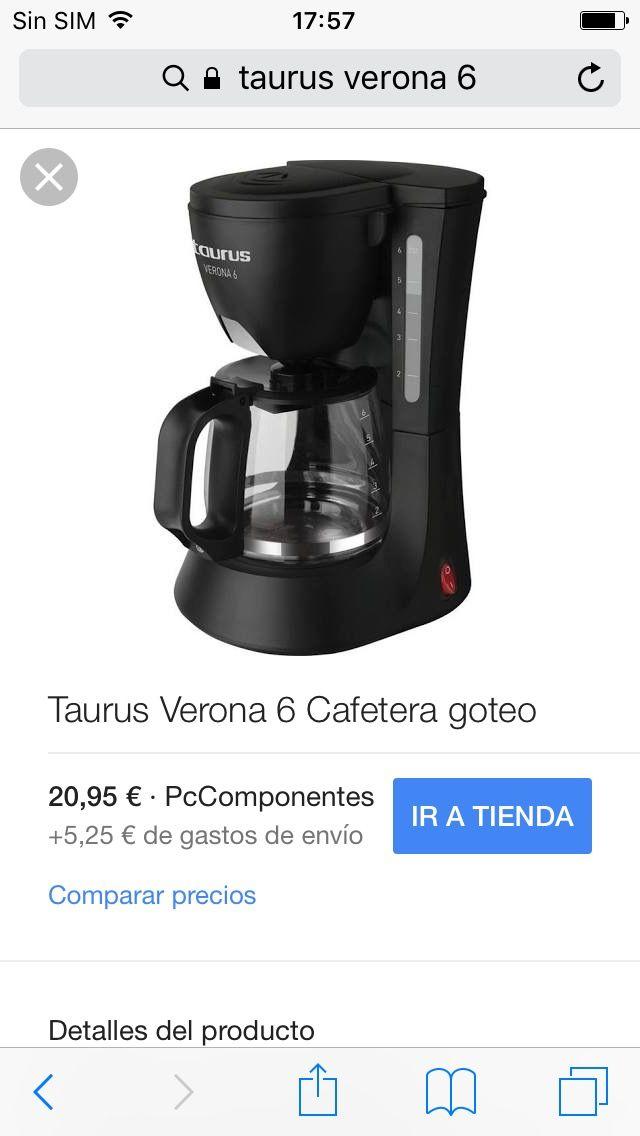 Cafetera taurus goteo