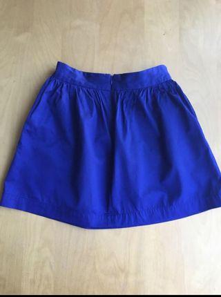 Falda azul electico