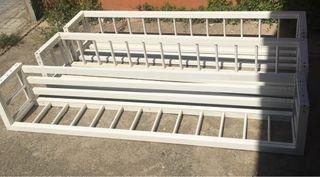 Estantes balconeras aluminio