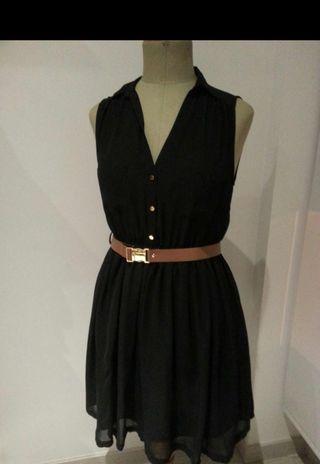 Vestido H&M negro talla 42
