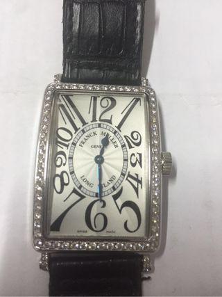 Reloj Franck muller Auténtico acero y diamantes