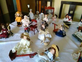 Juego de mañecas de porcelana, de coleccion