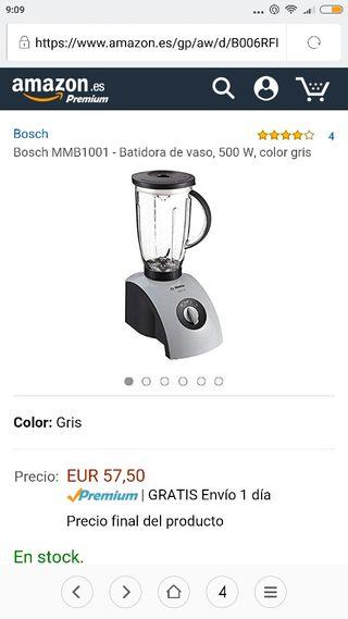 batidora vaso bosch 500w