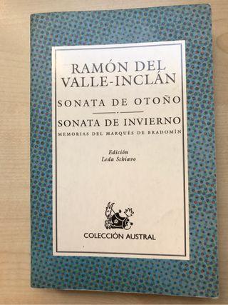 """Libro. Ramon del Valle Inclán """" sonata de otoño"""""""