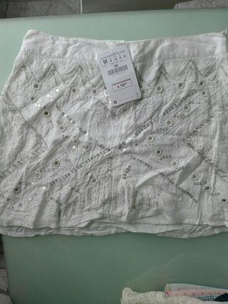 falda stradivarius nueva talla m
