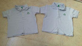 Polos Benetton 6 meses