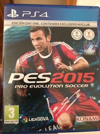 Juego ps4 pro evolution soccer