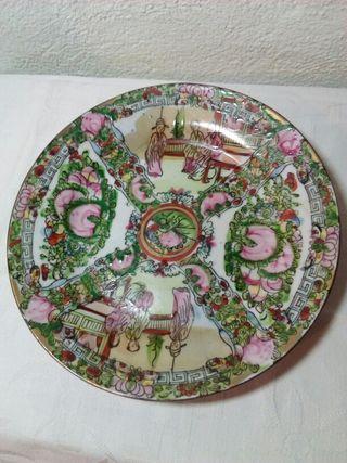 antiguo plato porcelana china