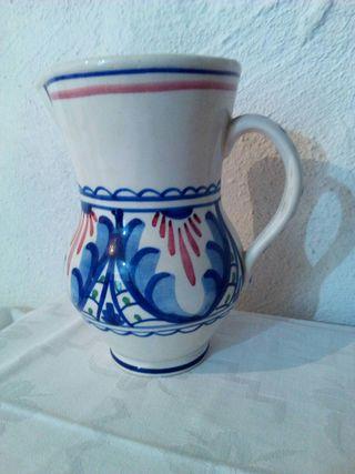 antigua jarra ceramica lahuerta manises