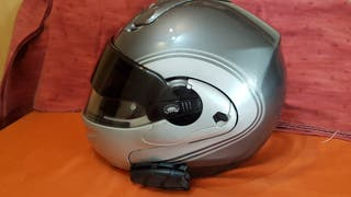 Casco moto con intercomunicador(regalo otro casco)