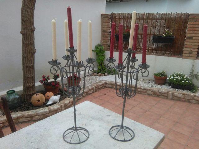 lote 2 candelabros forja