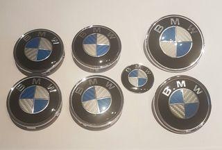 Logo tapa insignia emblema BMW Azul Blanco Carbono