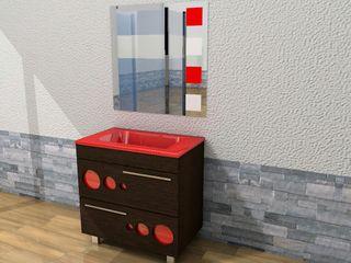 Mueble de baño con lavabo y espejo nuevo