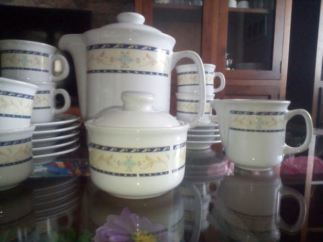 vajilla cafe porcelana para 12