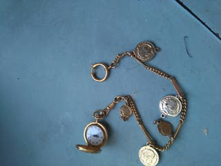 Reloj EXACTUS, Sra. bolsillo,con cadena. Vintage